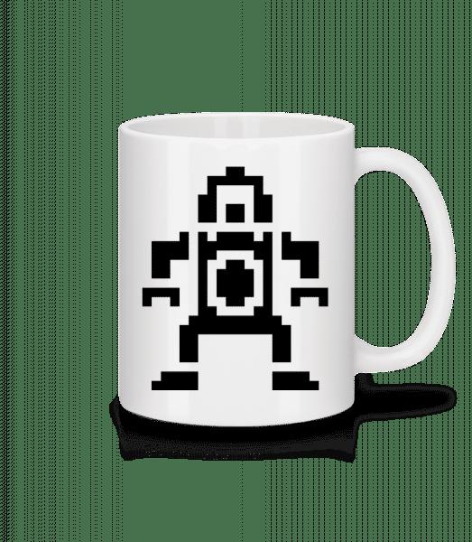Pixel Robot - Mug - White - Vorn