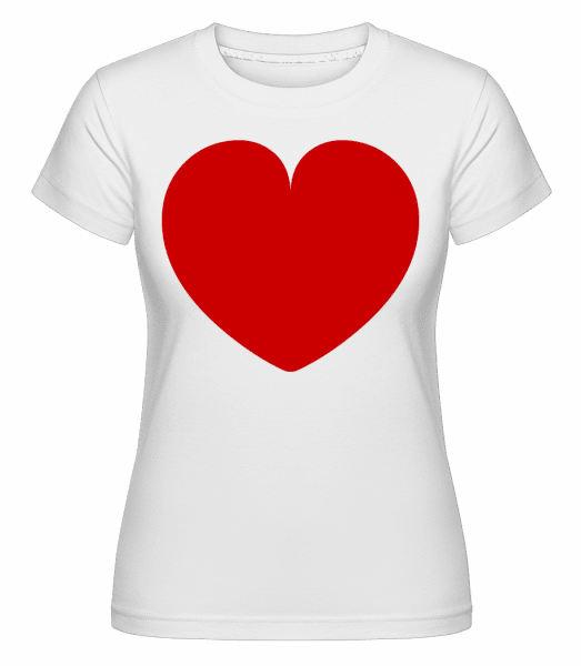 Heart -  Shirtinator Women's T-Shirt - White - Vorn