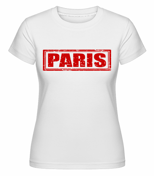 Paris France Red -  T-shirt Shirtinator femme - Blanc - Vorn