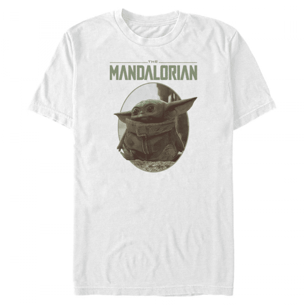 The Look The Child - Star Wars Mandalorian - Men's T-Shirt - White - Front