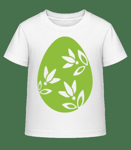 Easter Egg Icon - Kid's Shirtinator T-Shirt - White - Vorn