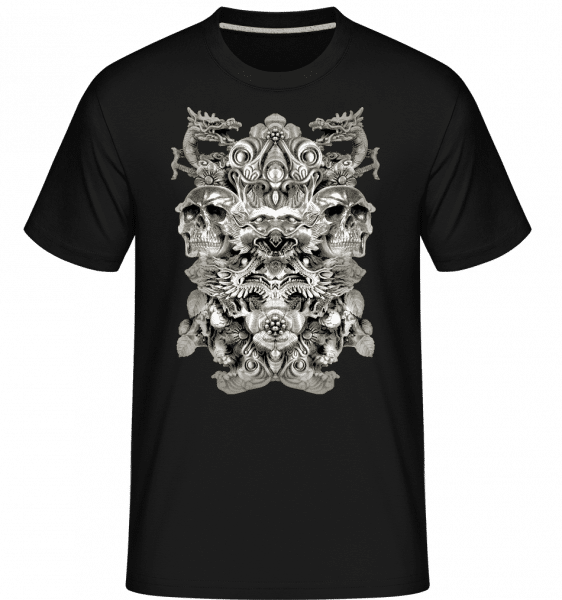 Dragons And Skulls -  Shirtinator Men's T-Shirt - Black - Vorn