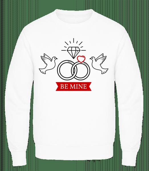 Valentine's Day Be Mine - Men's Sweatshirt AWDis - White - Vorn