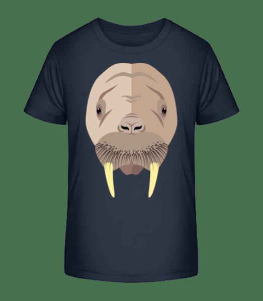Seal Comic Shadow - Kid's Premium Bio T-Shirt - Navy - Vorn