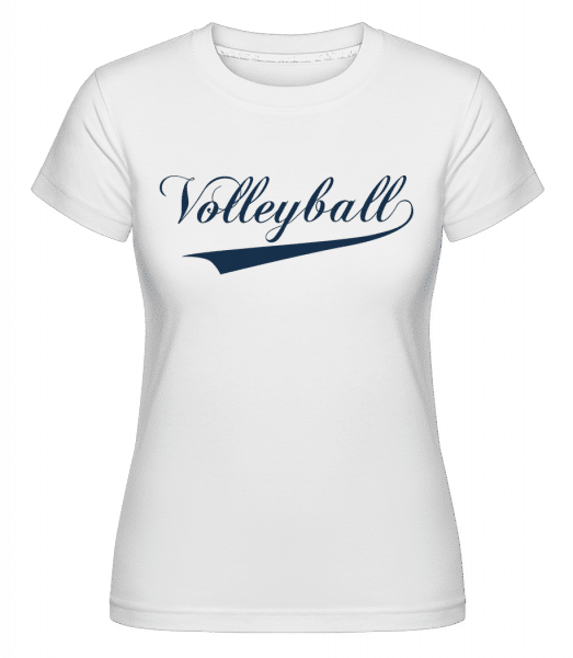 Volleyball Stroke -  Shirtinator Women's T-Shirt - White - Front