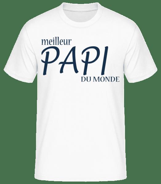 Meilleur Papi Du Monde - T-shirt standard Homme - Blanc - Vorn
