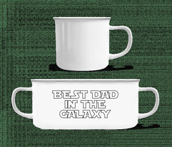 Best Dad In The Galaxy - Enamel-cup - White - Vorn
