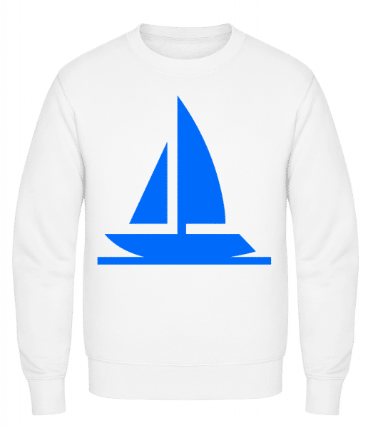 Sailboat - Classic Set-In Sweatshirt - White - Vorn
