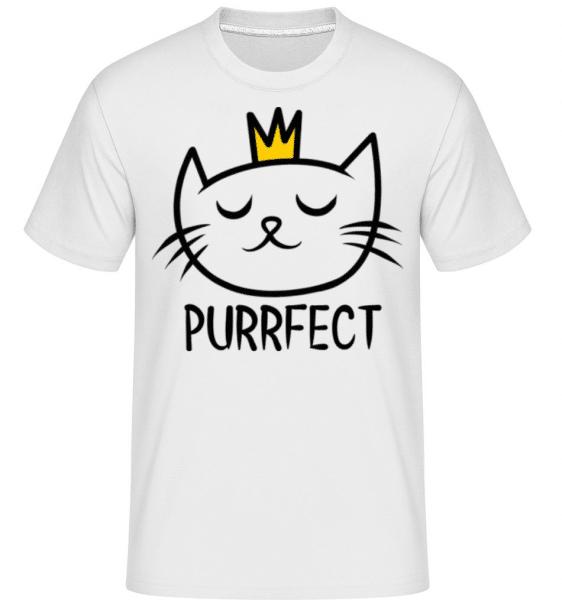 Purrfect -  Shirtinator Men's T-Shirt - White - Front