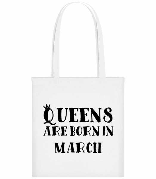 Queens Are Born In March - Sac tote - Blanc - Devant