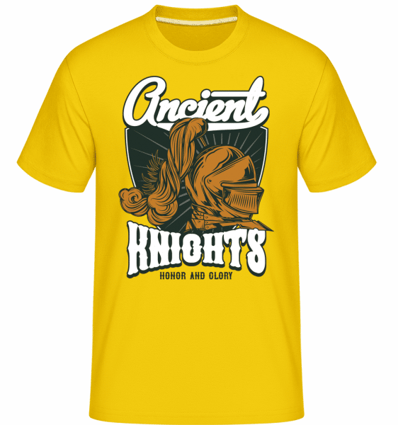 Honor And Glory -  Shirtinator Men's T-Shirt - Golden yellow - Vorn