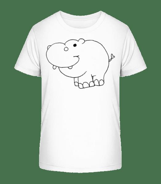 Kids Comic - Hippo - Kid's Premium Bio T-Shirt - White - Vorn