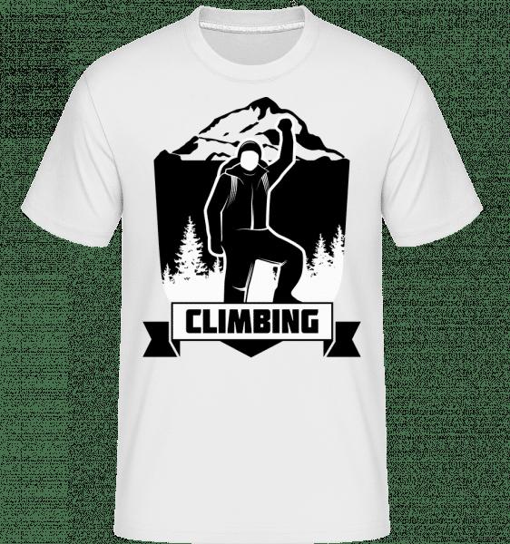 Climbing -  Shirtinator Men's T-Shirt - White - Vorn