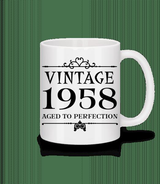 Vintage 1958 Perfection - Mug en céramique blanc - Blanc - Devant