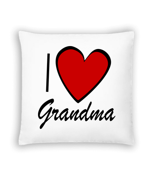 I Love Grandma - Cushion - White - Vorn