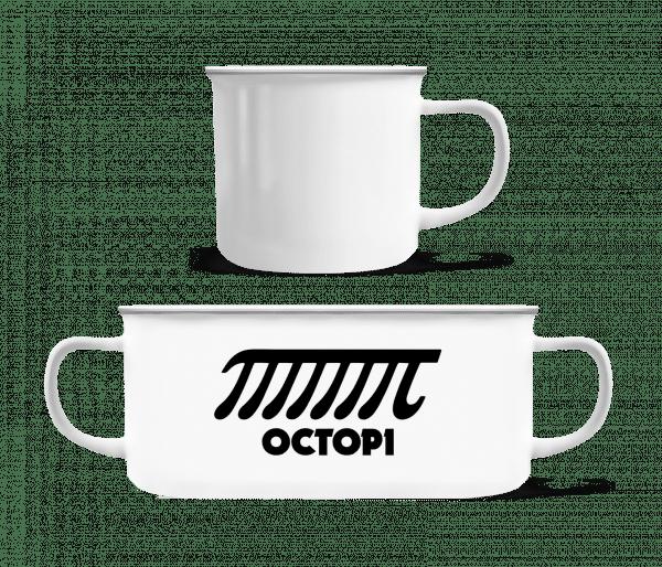 Octopi - Enamel-cup - White - Vorn