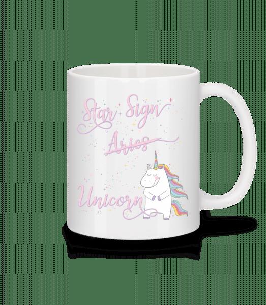 Star Sign Unicorn Aries - Mug - White - Front