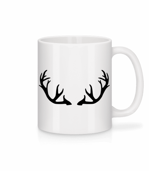 Deer Antlers - Mug - White - Front