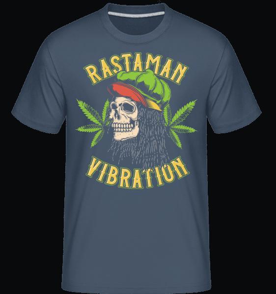 Rastaman Vibration -  Shirtinator Men's T-Shirt - Denim - Vorn