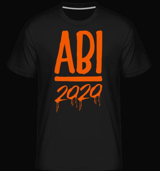 Abi 2020 Laufende Farben - Shirtinator Männer T-Shirt - Schwarz - Vorn