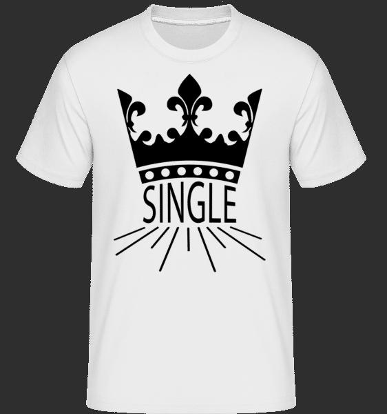 Single Krone - Shirtinator Männer T-Shirt - Weiß - Vorn