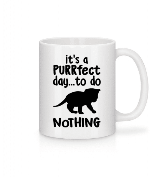 It's A Purrfect Day - Mug - White - Front