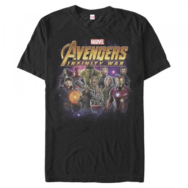 Group Shot - Marvel Avengers Infinity War - Men's T-Shirt - Black - Front
