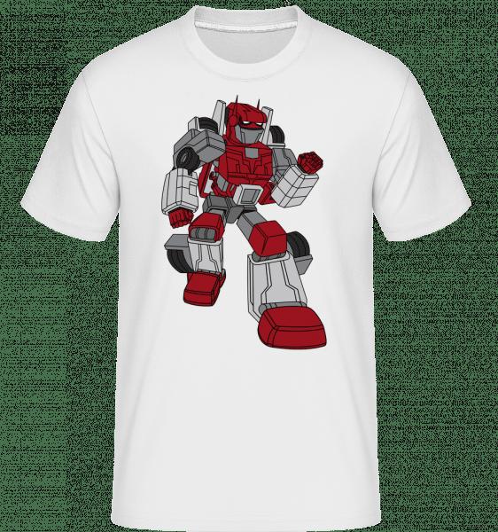 Auto Roboter - Shirtinator Männer T-Shirt - Weiß - Vorn