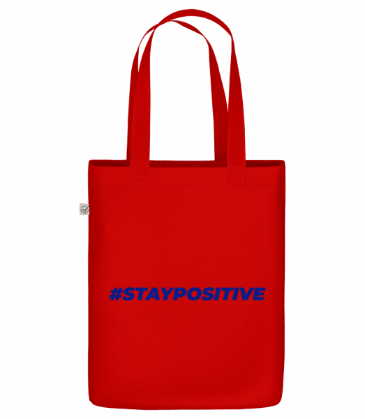 "Staypositive - Organic ""Earth Positive"" tote bag - Red - Vorn"