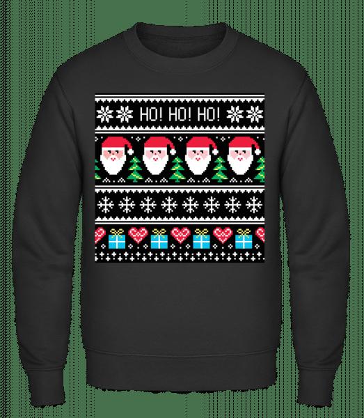 Ugly Ho Ho Ho - Men's Sweatshirt - Black - Vorn