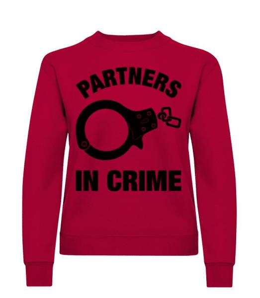 Partner in crime - Women's Sweatshirt - Red - Front