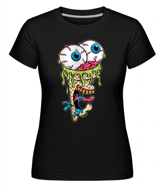 Horror Ice Cream -  Shirtinator Women's T-Shirt - Black - Vorn