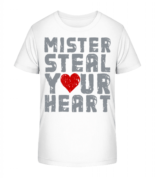 Mister Steal Your Heart - Kid's Premium Bio T-Shirt - White - Vorn