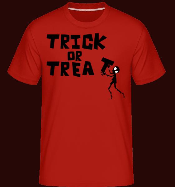 Trick Or Treat -  Shirtinator Men's T-Shirt - Red - Vorn