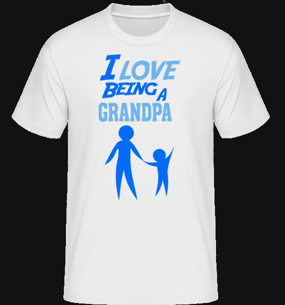 I Love To Be A děda -  Shirtinator tričko pro pány - Bílá - Napřed