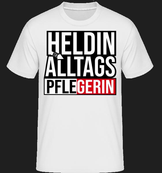 Heldin Des Alltags Pflegerin - Shirtinator Männer T-Shirt - Weiß - Vorn