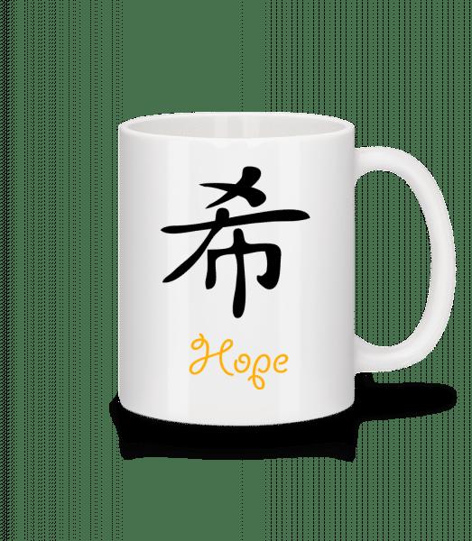 Chinese Sign Hope - Mug - White - Vorn