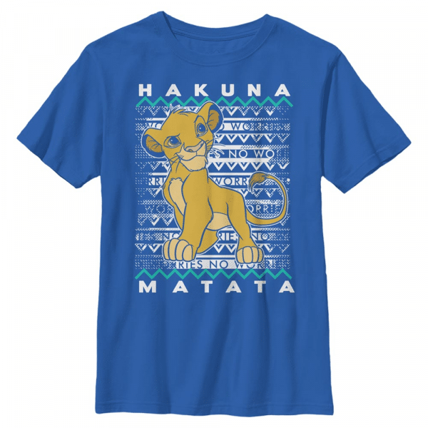 Hakuna Simba - Disney The Lion King - Kids T-Shirt - Royal blue - Front