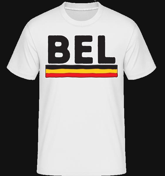 fotbal Belgie -  Shirtinator tričko pro pány - Bílá - Napřed