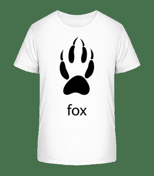 Fox Paw - Kid's Premium Bio T-Shirt - White - Vorn