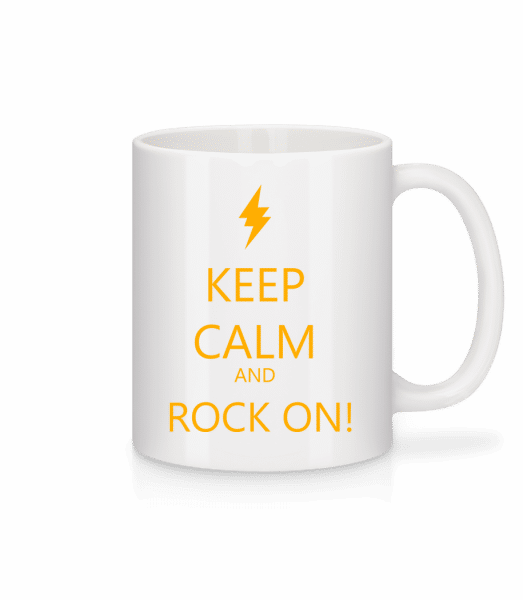 Keep Calm And Rock On! - Mug - White - Vorn
