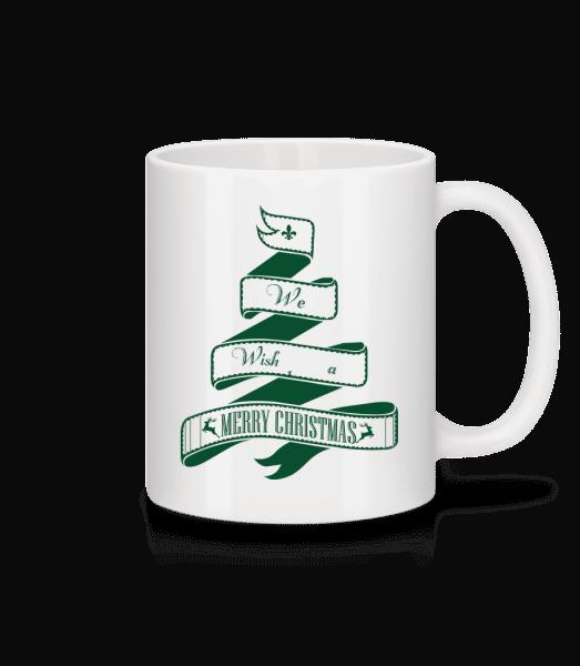 We Wish You A Merry Christmas - Mug - White - Vorn