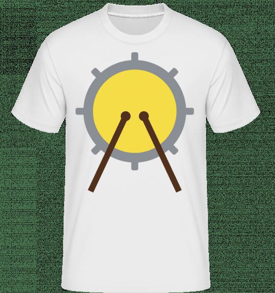 Drum Roll Icon -  Shirtinator Men's T-Shirt - White - Vorn