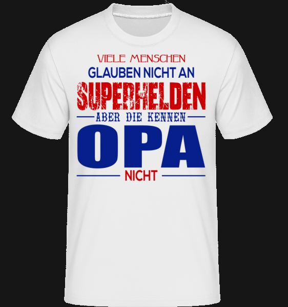 Superhelden Opa - Shirtinator Männer T-Shirt - Weiß - Vorn