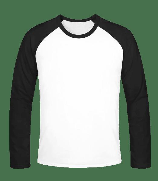 Männer Baseball-Shirt Longsleeve - Schwarz - Vorn