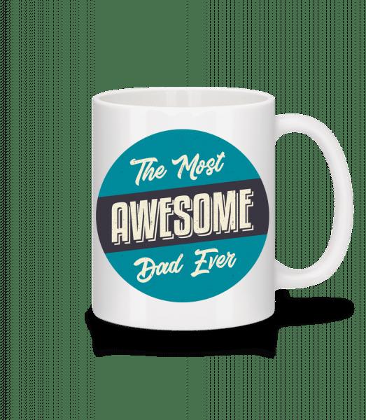 The Most Awesome Dad - Tasse - Weiß - Vorn