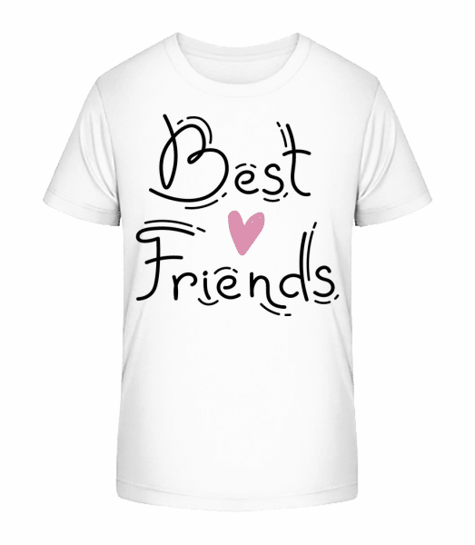 Best Friends - Kid's Premium Bio T-Shirt - White - Vorn