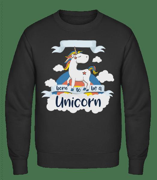 Born to Be A Unicorn - Männer Pullover - Schwarz - Vorn