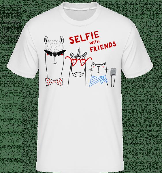 Selfie With Friends -  Shirtinator Men's T-Shirt - White - Vorn