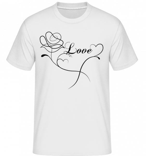 Love Flowers -  Shirtinator Men's T-Shirt - White - Vorn
